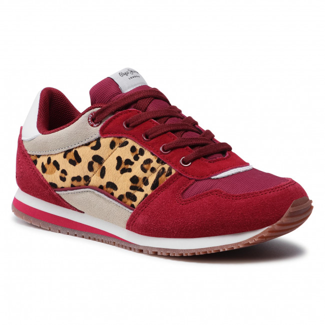 Sneakersy PEPE JEANS - Sydney Basic Girl PGS30232  Berry 280