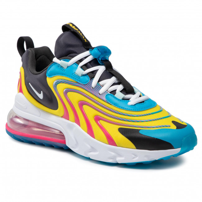 Buty NIKE - Air Max 270 React Eng CD0113 400 Laser Blue/White/Anthracite
