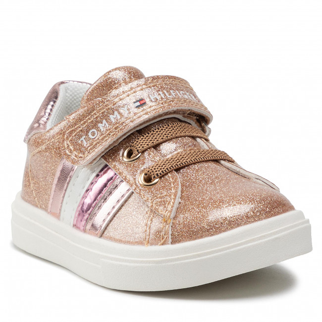Sneakersy TOMMY HILFIGER - Low Cut Lace-Up T1A4-31149-1238 M Rose Gold 341
