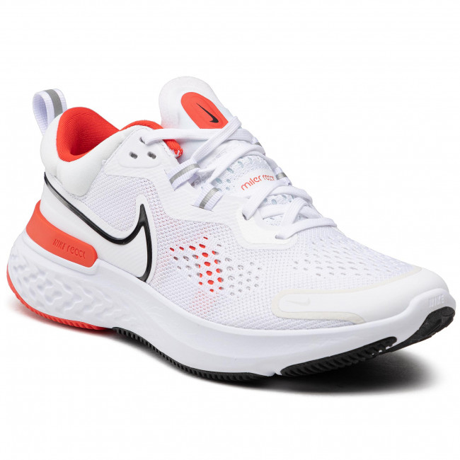 Buty NIKE - React Miler 2 CW7121 100 White/Black/Chile Red
