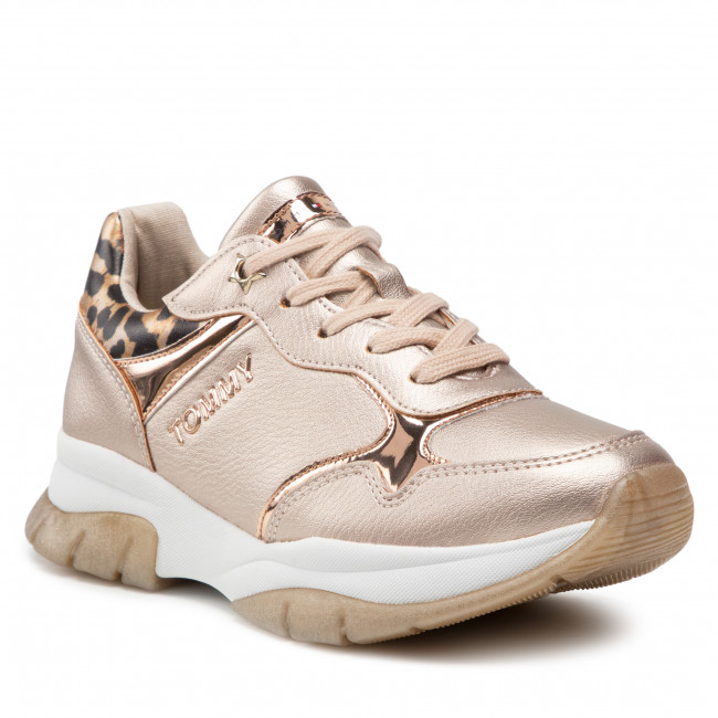Sneakersy TOMMY HILFIGER - Low Cut Lace T3A4-31174-1243 S Rose Gold 341