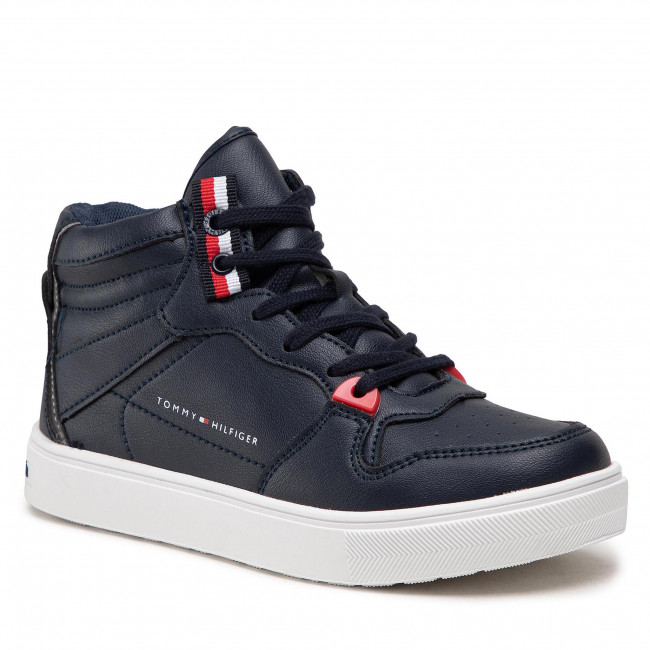 Sneakersy TOMMY HILFIGER - Higt Top Lace-Up T3B4-32064-0193 M Blue 800
