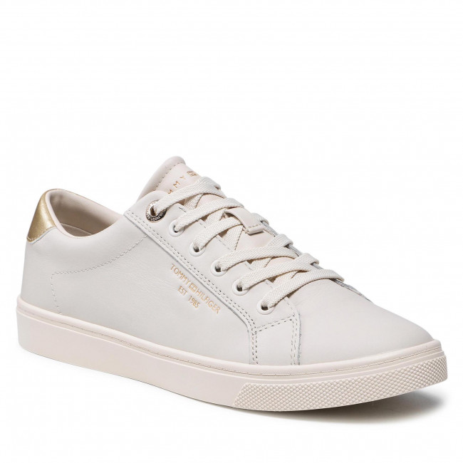 Sneakersy TOMMY HILFIGER - Th Icon Cupsole Sneaker FW0FW05919 White Dove AF2