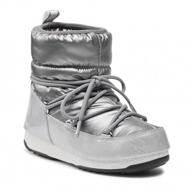 Śniegowce MOON BOOT - Low Pillow Wp 24010100002 Silver