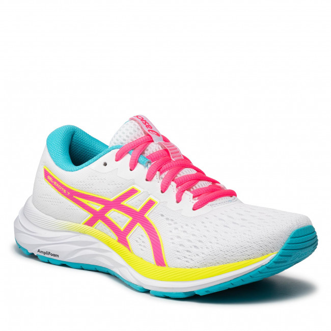 Buty ASICS - Gel-Excite 7 1012A562 White/Safety Yellow 100
