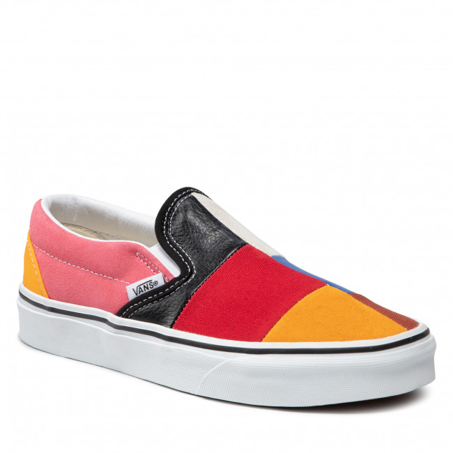 Tenisówki VANS - Classic Slip-On VN0A38F7VMF1 (Patchwork) Multi/Ture Wh