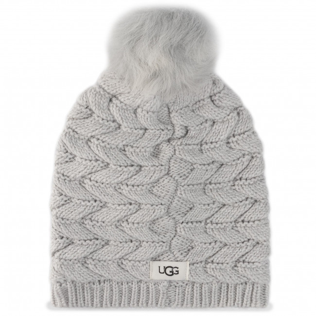 Czapka UGG - Cable Hat With Pom 18756 Lgry