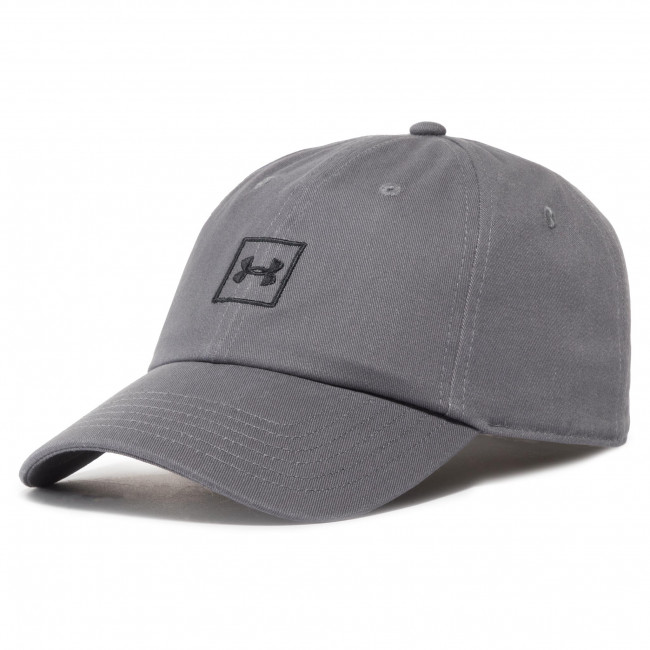 Czapka z daszkiem UNDER ARMOUR - Washed Cotton Cap 1327158-040 Szary