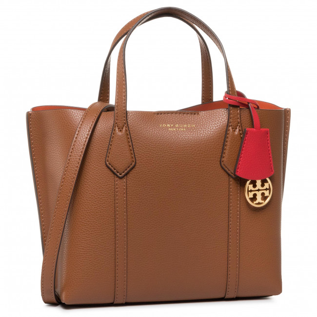Torebka TORY BURCH - Perry Small Triple-Compartment Tote 56249 Light Umber 905