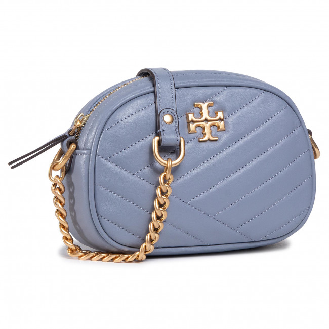 Torebka TORY BURCH - Kira Chevron Small Camera Bag 60227 Cloud Blue/Rolled Brass 042
