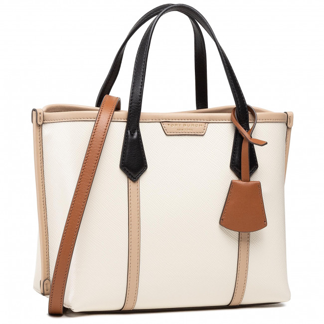 Torebka TORY BURCH - Perry Color-Block Small Triple-Compartment Tote 77011 New Ivory 104