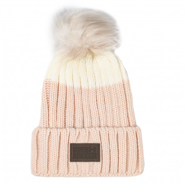 Czapka UNDER ARMOUR - Snowcrest Pom Beanie 1299905-675 Pink