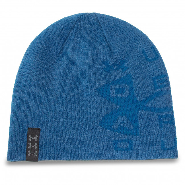Czapka UNDER ARMOUR - Lboard Reversible Beanie 1356709-428 Blu