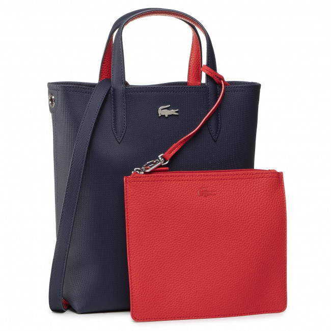 Torebka LACOSTE - Vertical Shopping Bag NF2991AA Peacoat Salsa B50