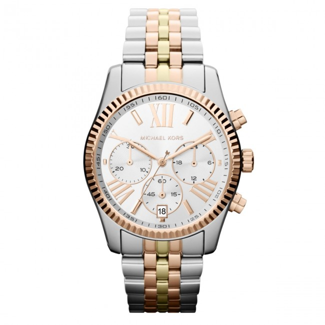 Zegarek MICHAEL KORS - Lexington MK5735 3T Silver/Rose/Gold