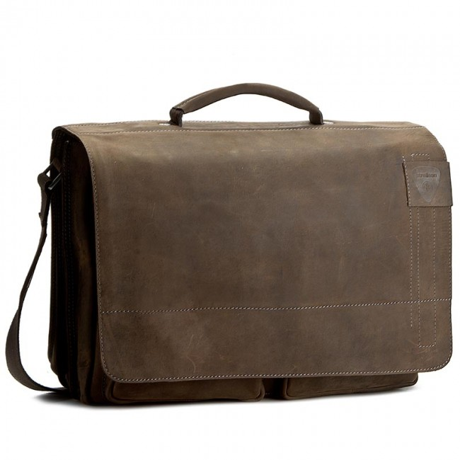Torba na laptopa STRELLSON - Richmond 4010001260 Dark Brown 702