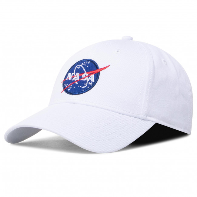Czapka z daszkiem ALPHA INDUSTRIES - Nasa Cap 186903 White 09