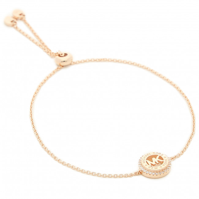 Bransoletka MICHAEL KORS - Curb Link W Pave MKC1383AN791 Rose Gold Clear