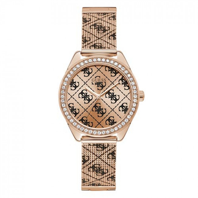 Zegarek GUESS - Claudia Mesh W1279L3 ROSE GOLD