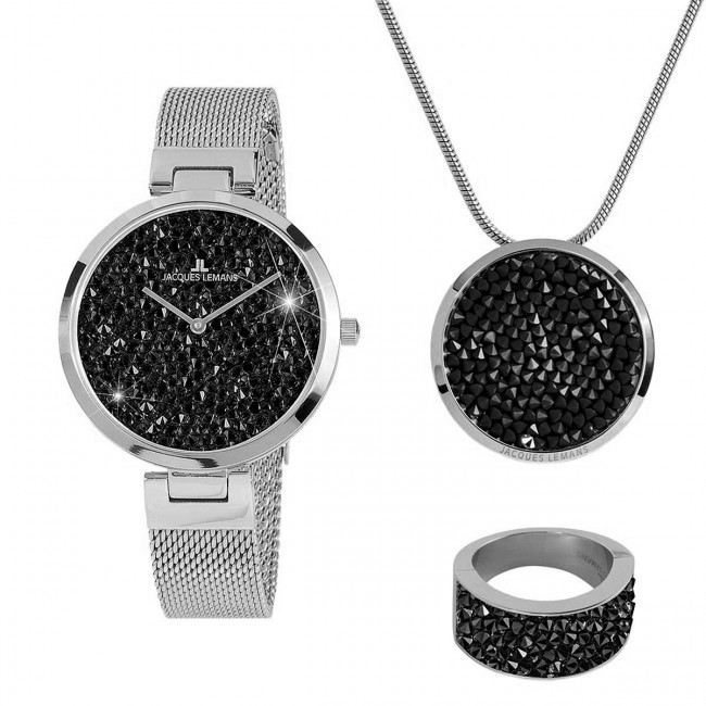 Zestaw upominkowy JACQUES LEMANS - Jewellery Set 1-2035G-SET56 Silver
