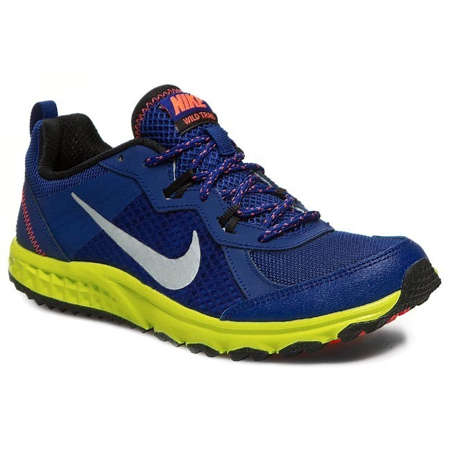 Buty NIKE Wild Trail 642833 400 Deep Royal BlueMetallic SilverBlackVNM Green