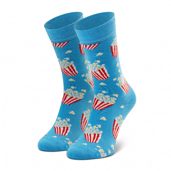 Skarpety Wysokie Unisex HAPPY SOCKS - POP01-6300 Niebieski