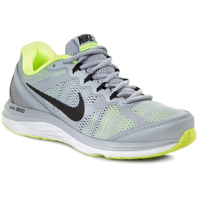 Buty NIKE - Dual Fusion Run 3 Msl 653619 025 Wolf Grey/Black/Volt White