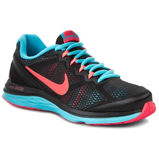 Buty NIKE - Dual Fusion Run 3 MSL 654446 009 Black/Hot Lava//Clearwater