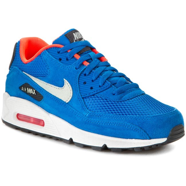 Buty NIKE - Air Max 90 Essential 537384 407 Dk Electric Bl/Lght Stn/Anthrct