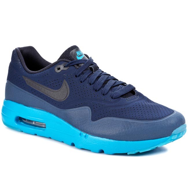 Buty NIKE - Air Max 1 Ultra Moire 705297 400 Midnight Navy/Obsidian-Nw Slt