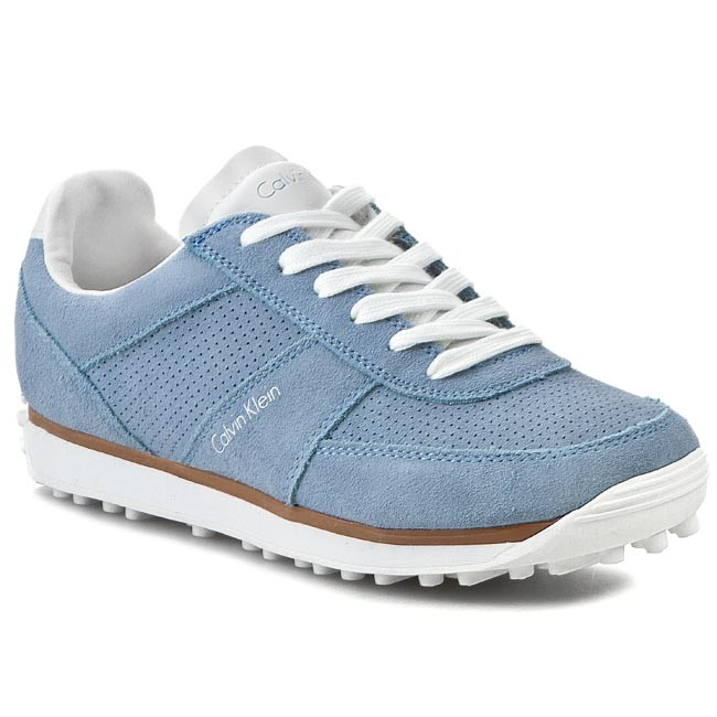 Sneakersy CALVIN KLEIN JEANS - Effie Perf Suede RE9205  Chambray