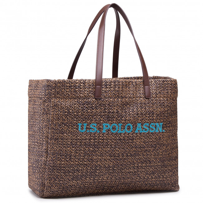Torebka U.S. POLO ASSN. - Ithaca L Shopping Bag Poly BEUIH5174WZB500 Brown