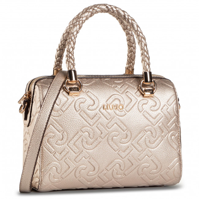 Torebka LIU JO - S Satchel NF0021 E0538 Light Gold 90048