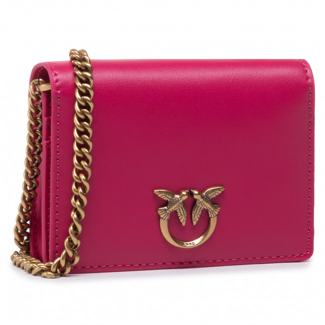 Torebka PINKO - Jolie Credit Card Holder Simply 2 PE 21 PLTT 1P225S Y6XT Rosa Brillante O96