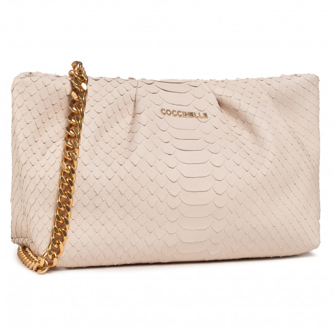Torebka COCCINELLE - H89 Ophelie Python Lulula E1 H89 19 02 01 Lambskin White N26