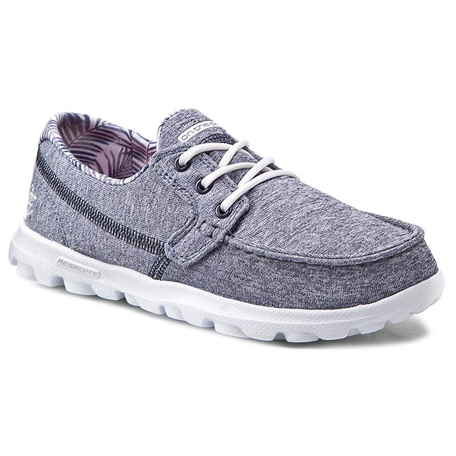 Mokasyny SKECHERS - On The Go Flagship 13727/NVW Navy/White