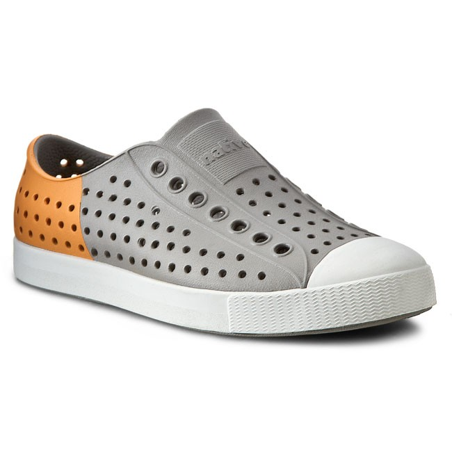 Trampki NATIVE - Jefferson 11100102-1498 Pigeon Grey/Lazer Orange