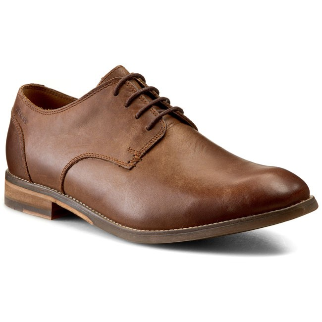 Półbuty CLARKS - Exton Walk 261077457 Tobacco Leather