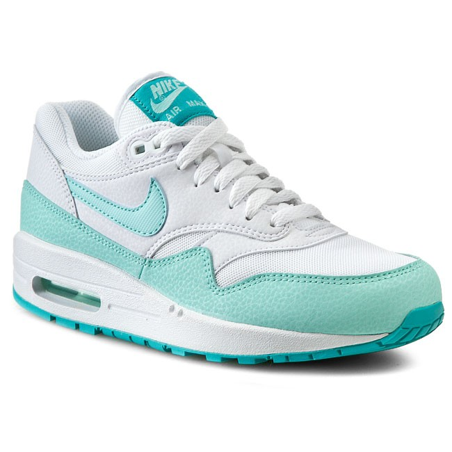 Buty NIKE - Air Max 1 Essential 599820 113 White/Artisan Teal/Lt Retro