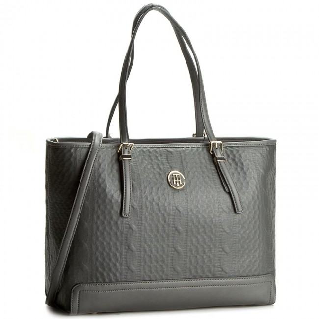 Torebka TOMMY HILFIGER - Honey Med Tote Knitted AW0AW03263 047