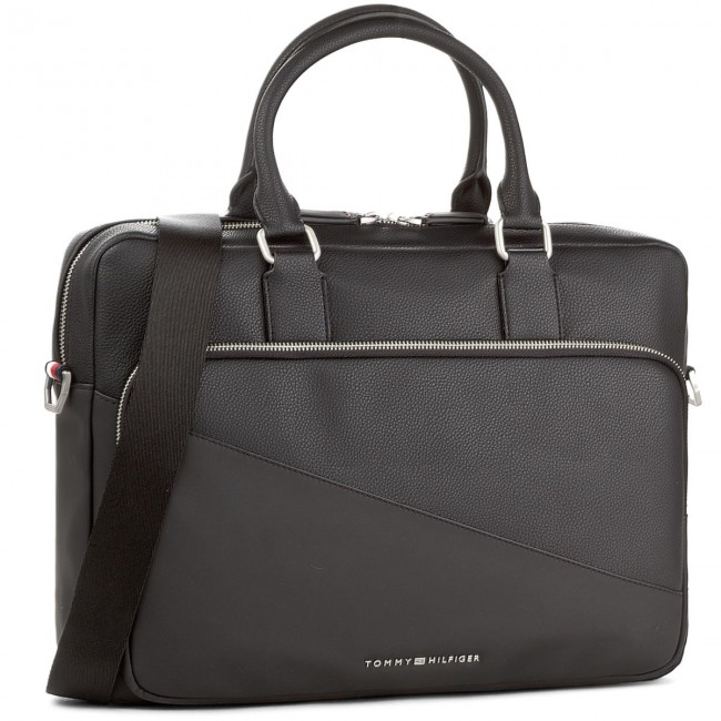 08b99dfe Torba na laptopa TOMMY HILFIGER - Th Diagonal Computer Bag AM0AM02841 002