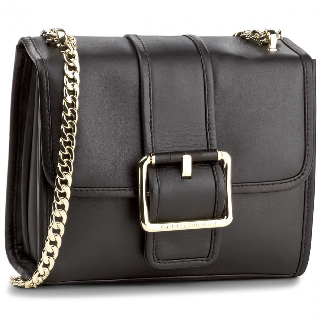 Torebka TOMMY HILFIGER - Buckle Leather Crossover AW0AW04861 002
