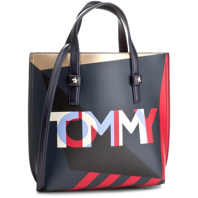 Torebka TOMMY HILFIGER - Th Effortless Tote Small Geo Cb AW0AW05058  905