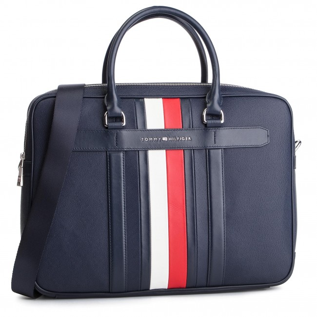 0a6ab7c4 Torba na laptopa TOMMY HILFIGER - Elevated Leather Comuputer Bag AM0AM04462  002