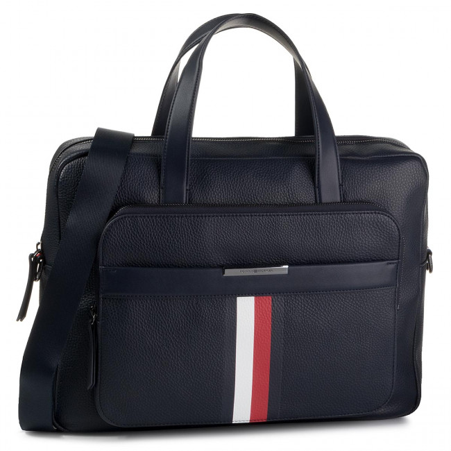 Torba na laptopa TOMMY HILFIGER - Th Downtown Crop Computer Bag AM0AM05456  CJM