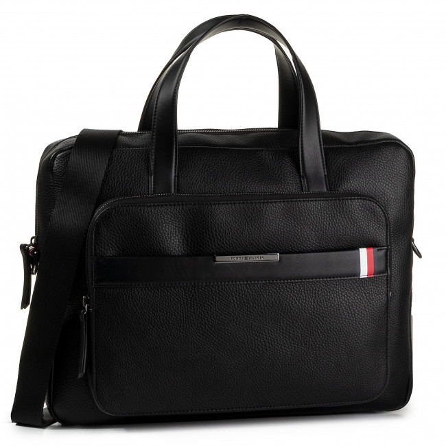 Torba na laptopa TOMMY HILFIGER - Th Downtown Computer Bag AM0AM05237 BDS