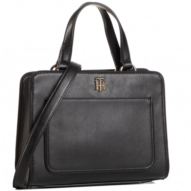 Torebka TOMMY HILFIGER - Th City Satchel AW0AW08519 BDS