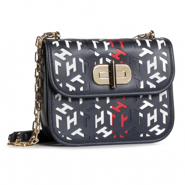 Torebka TOMMY HILFIGER - Turnlock Crossover Cut Out Mono AW0AW08639 BDS