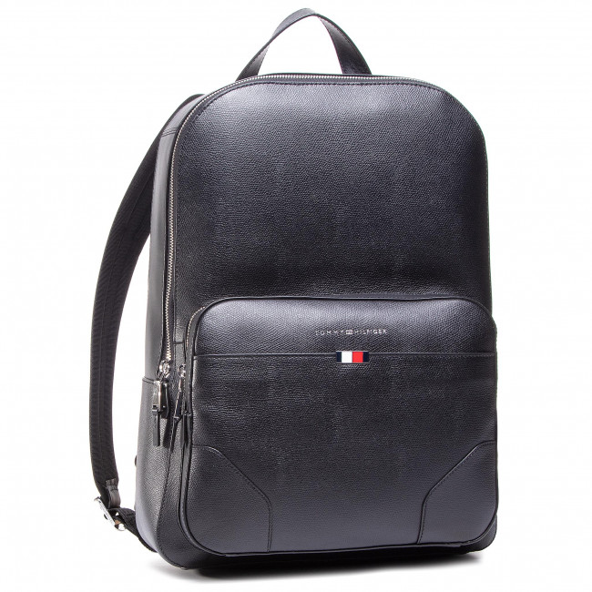 Plecak TOMMY HILFIGER - Business Leather Backpack AM0AM06460 BLK