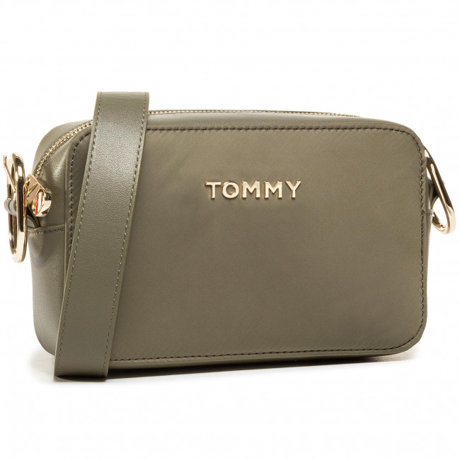 Torebka TOMMY HILFIGER - Recycled Nylon Crossover AW0AW08854 GRN